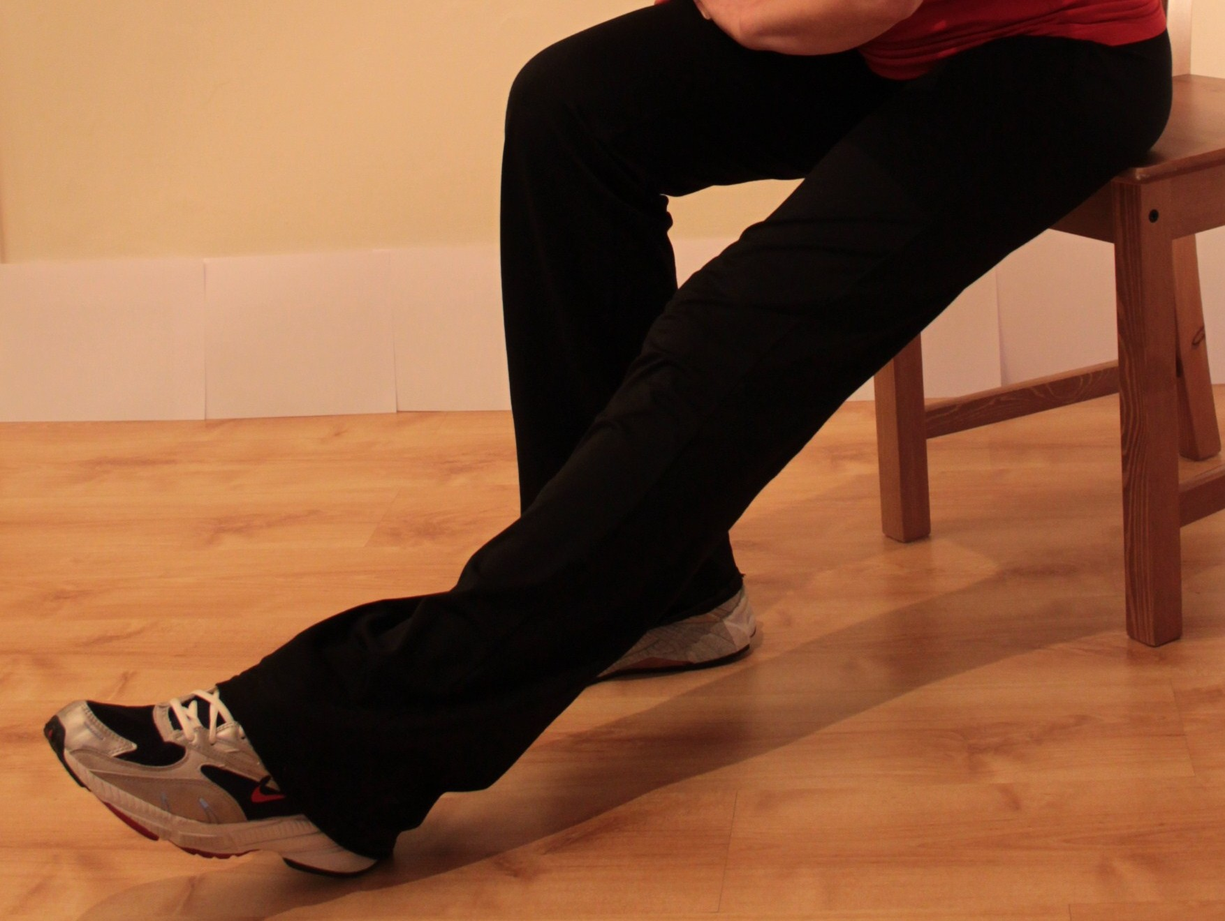 Hamstring stretch, sitting