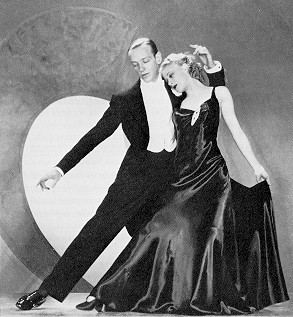 Ginger Rogers dancing with Fred Astaire