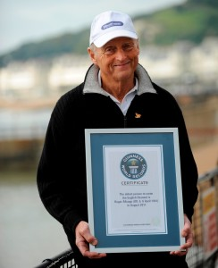 Roger Allsopp holding his Guinness world record certificate, courtesy of Healthspan